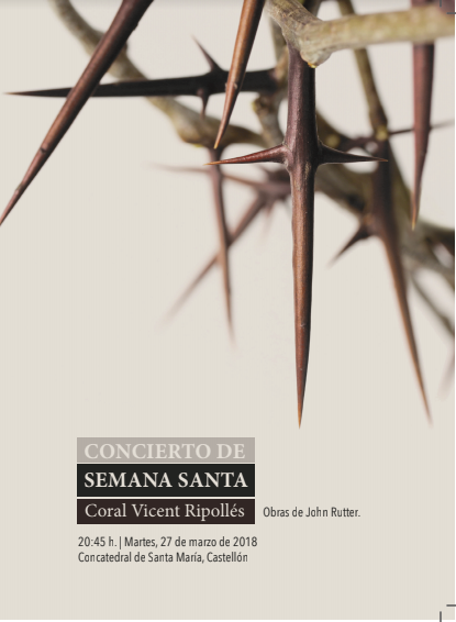 Concierto de Semana Santa 2018. Concatedral Santa María de Castellón.